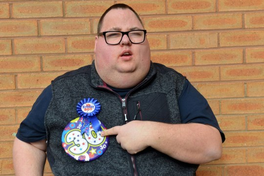 Dated 18/3/19 Jamie Lee Jones, a disabled man who wanted to go clubbing for the first time to mark his 30th birthday was left devastated when he was turned away by bouncers at Vibe club in Peterlee, Co. Durham See North News story