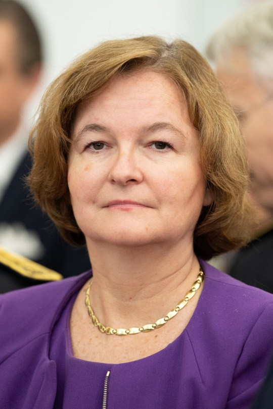 PAU, FRANCE - OCTOBER 08: French European Minister Nathalie Loiseau attends a reception at the City Hall during the Celebration of Bicentenary of the Bernadotte Dynasty on October 8, 2018 in Pau, France. The royal family of Sweden is on an official visit to France for 1 day. (Photo by David Niviere/Getty Images)