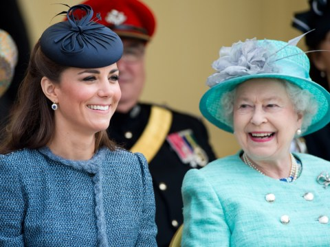 As Kate Middleton makes second joint engagement with the Queen in 16 years, a reminder of their first outing
