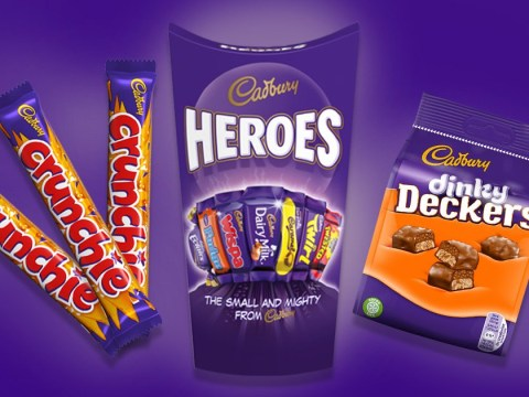 Cadbury is adding Dinky Deckers and mini Crunchies to its Heroes tubs