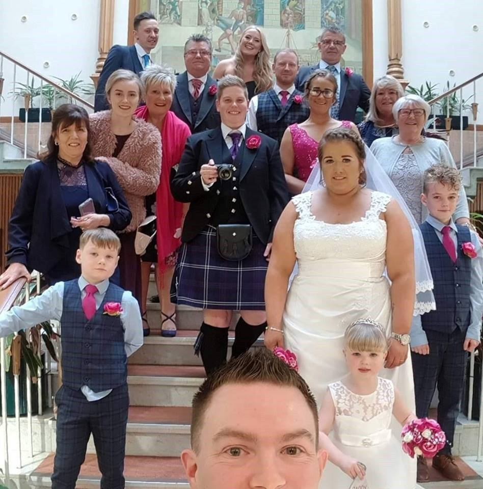 Samantha Allan turned her 30th birthday party into her surprise wedding PICS SUPPLIED VIA Laura Abernethy