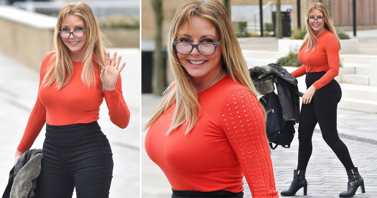 Carol Vorderman hasn't had 'bum implants', thanks 'genes and menopause medication' for curves