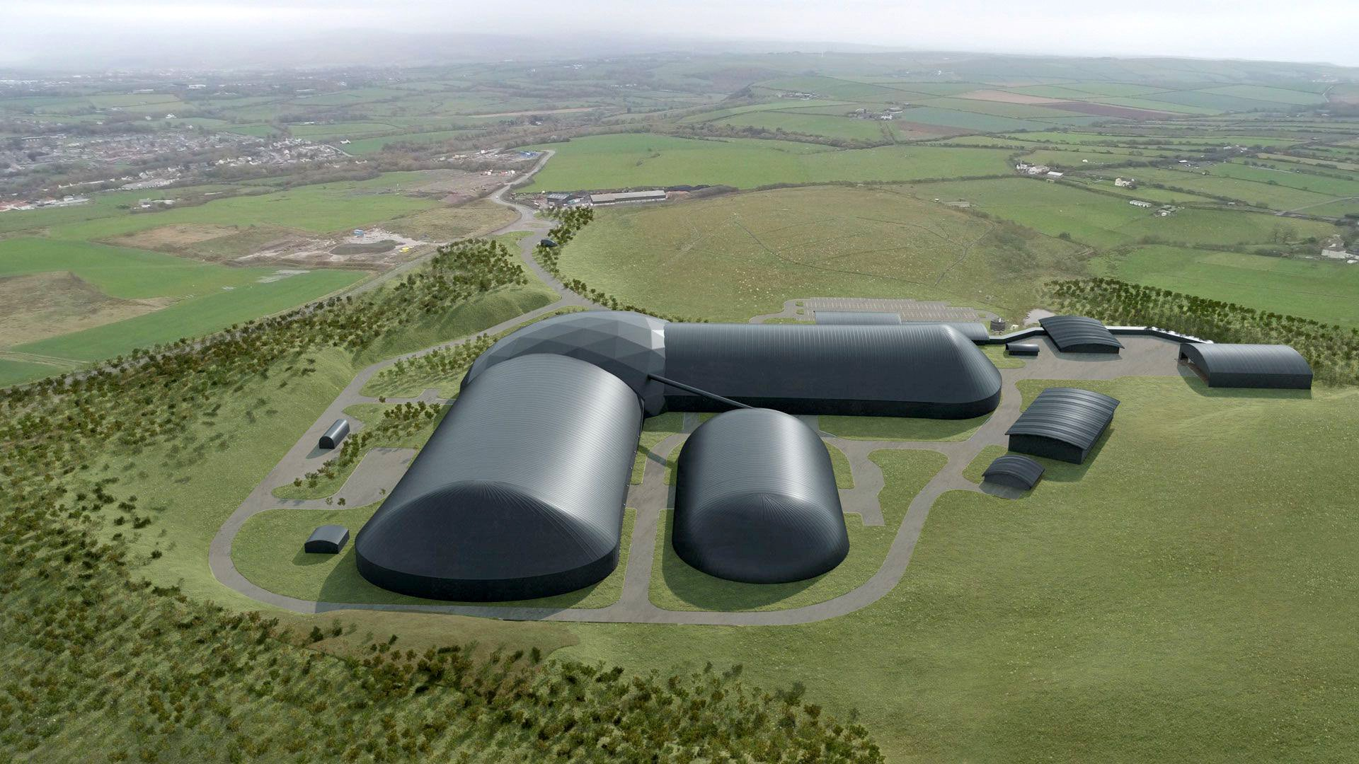 An artist's illustration of how the new mine would look (Picture: West Cumbria Mining)