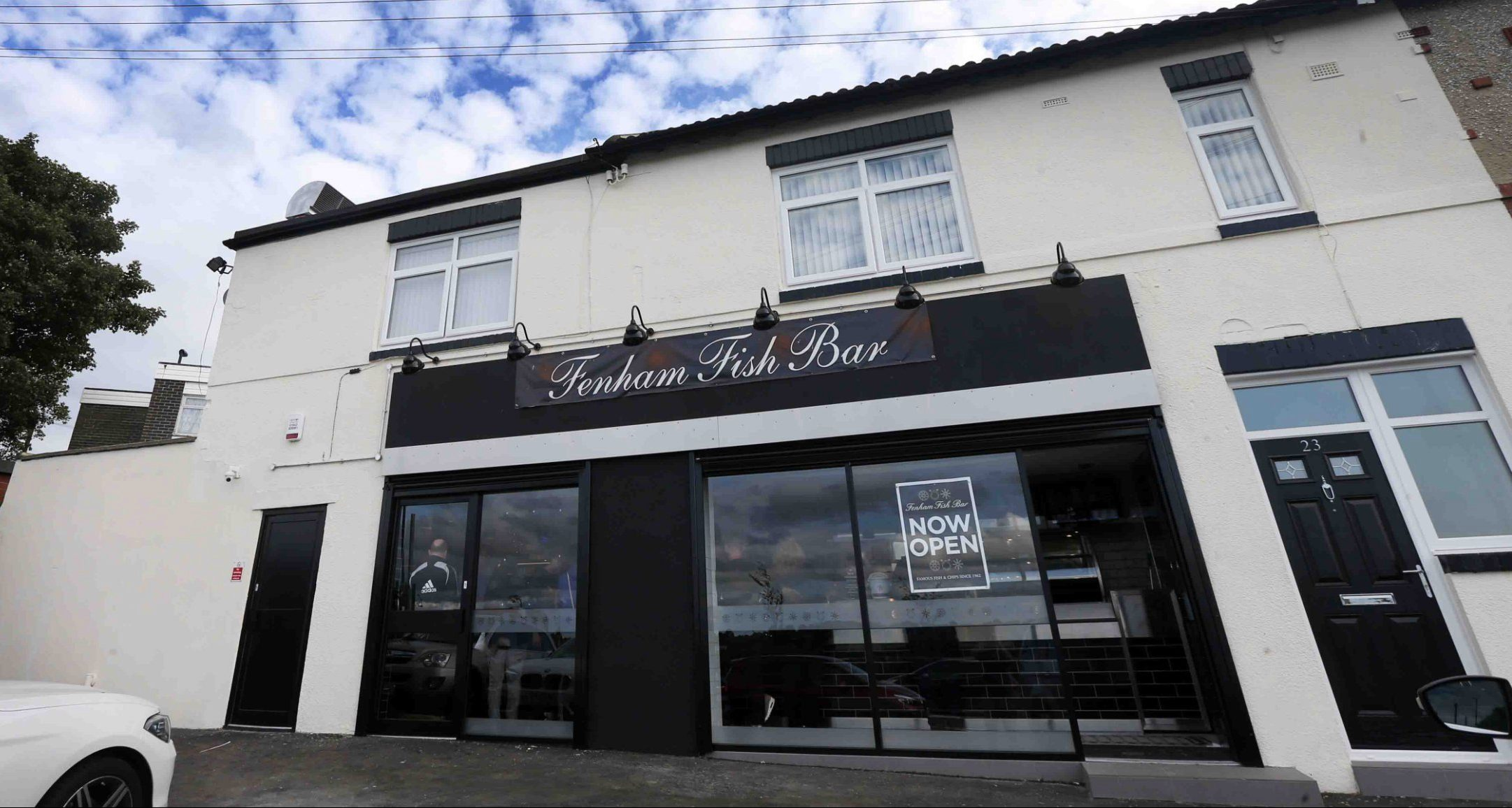 """A chippy has slammed a Tripadvisor troll who criticised staff for having tattoos. Fenham Fish Bar staff were branded 'low grade' for employing workers with inkings. But venue bosses have now hit back at the """"ridiculous"""" claims, telling ChronicleLive: """"Tattoos have NOTHING to do with how good you are at your job."""" Fenham Fish Bar in Cowgate that has reopened after a fire gutted the old shop"""