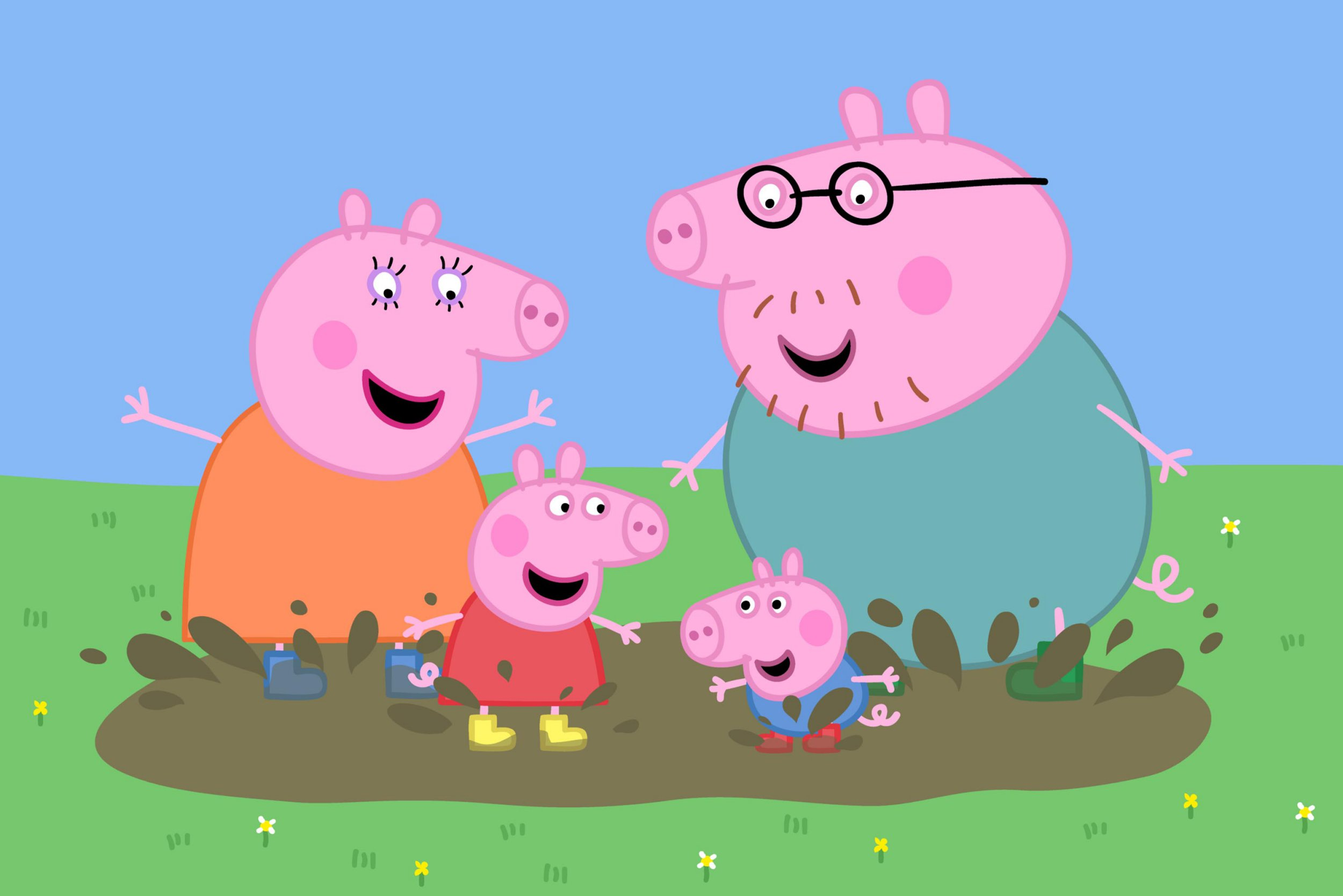Television programme, 'Peppa Pig' TX CHANNEL 5 BROADCASTING. Peppa and family. Five Stills: 0207 550 5509. Free for editorial press and listings use in connection with the current broadcast of Channel 5 programmes only. This Image may only be reproduced with the prior written consent of Channel 5. Not for any form of advertising, internet use or in connection with the sale of any product.