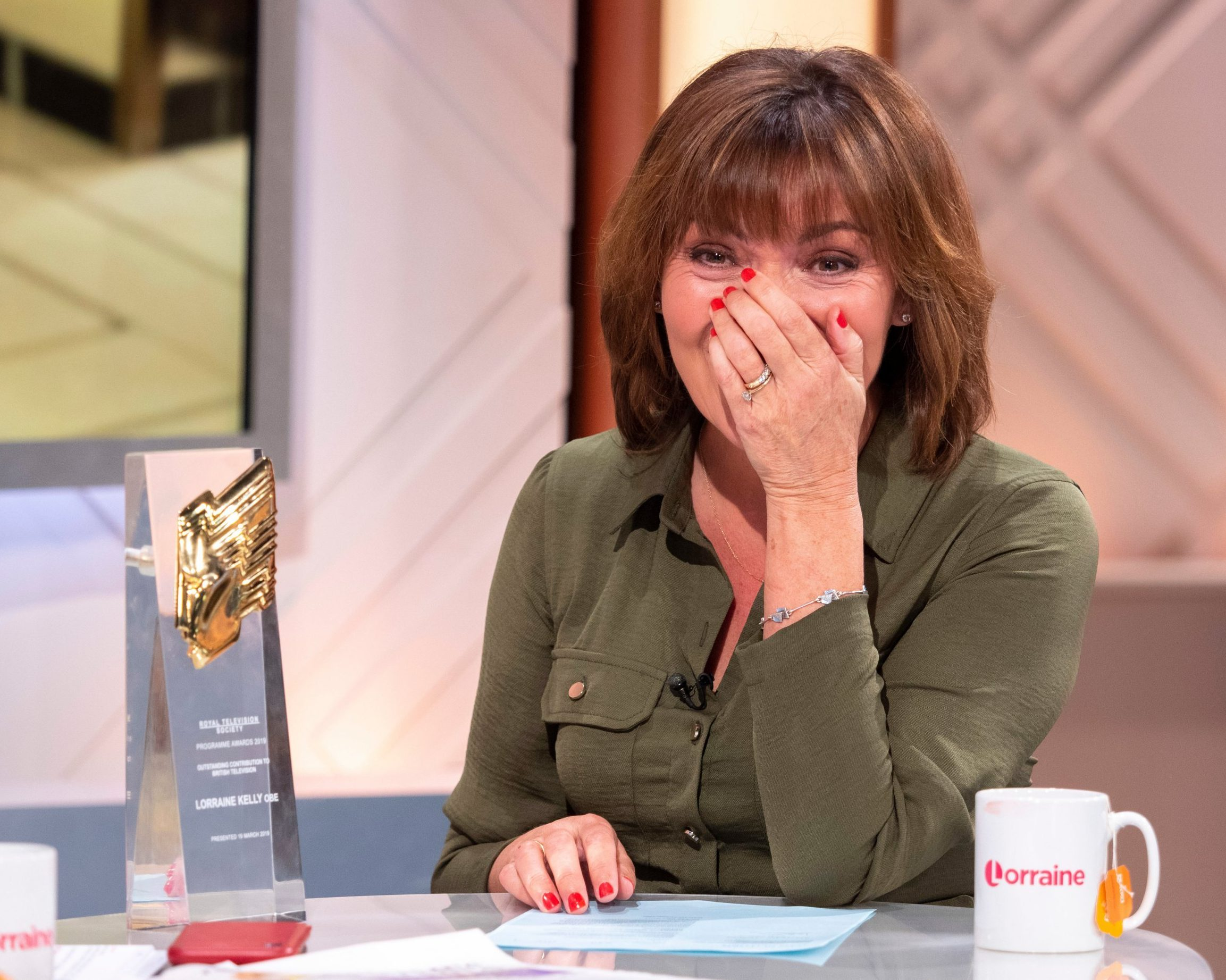 Lorraine Kelly says she never takes her bra off, even wearing it to bed