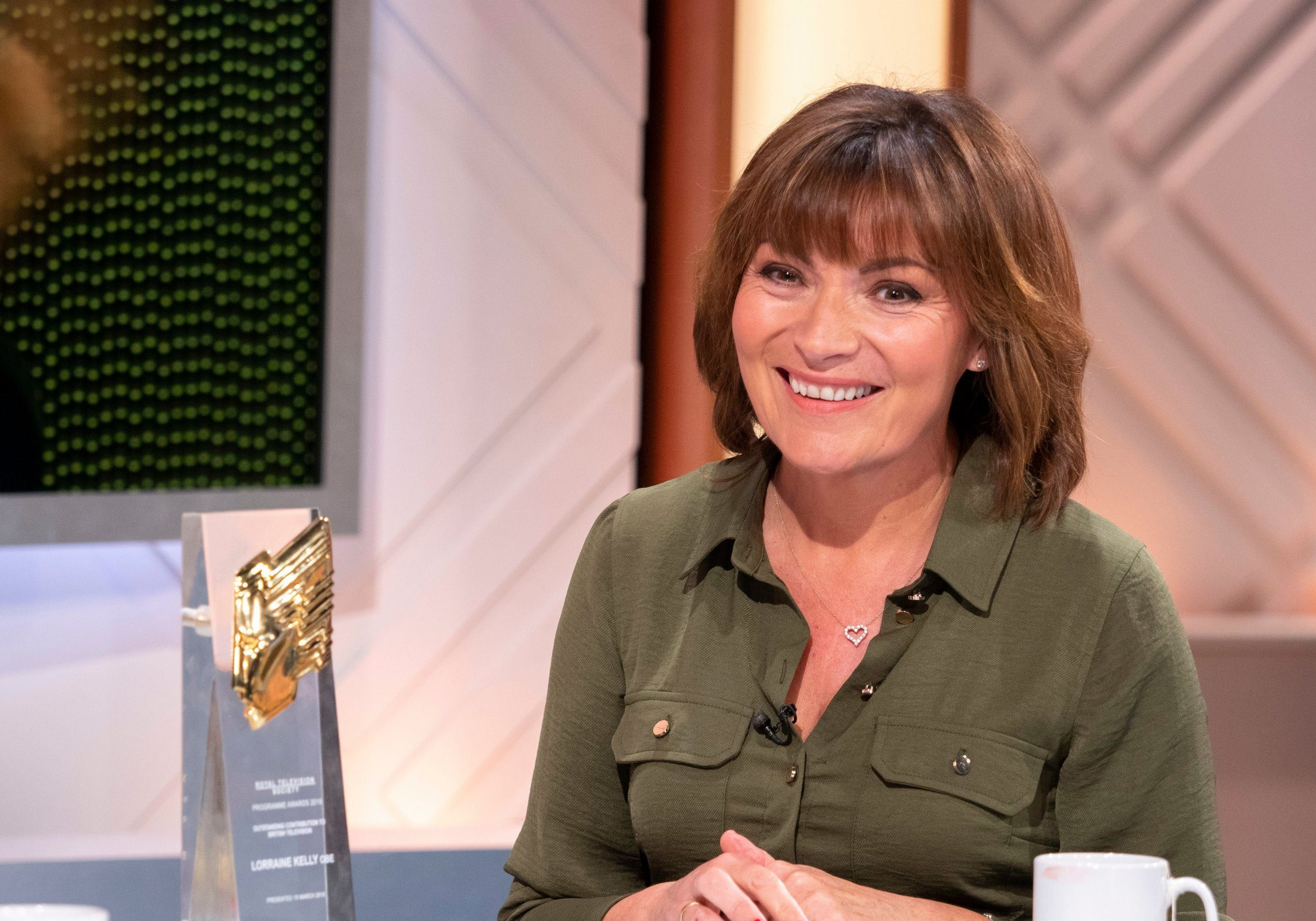 Editorial use only Mandatory Credit: Photo by Ken McKay/ITV/REX (10160926a) Lorraine Kelly 'Lorraine' TV show, London, UK - 20 Mar 2019