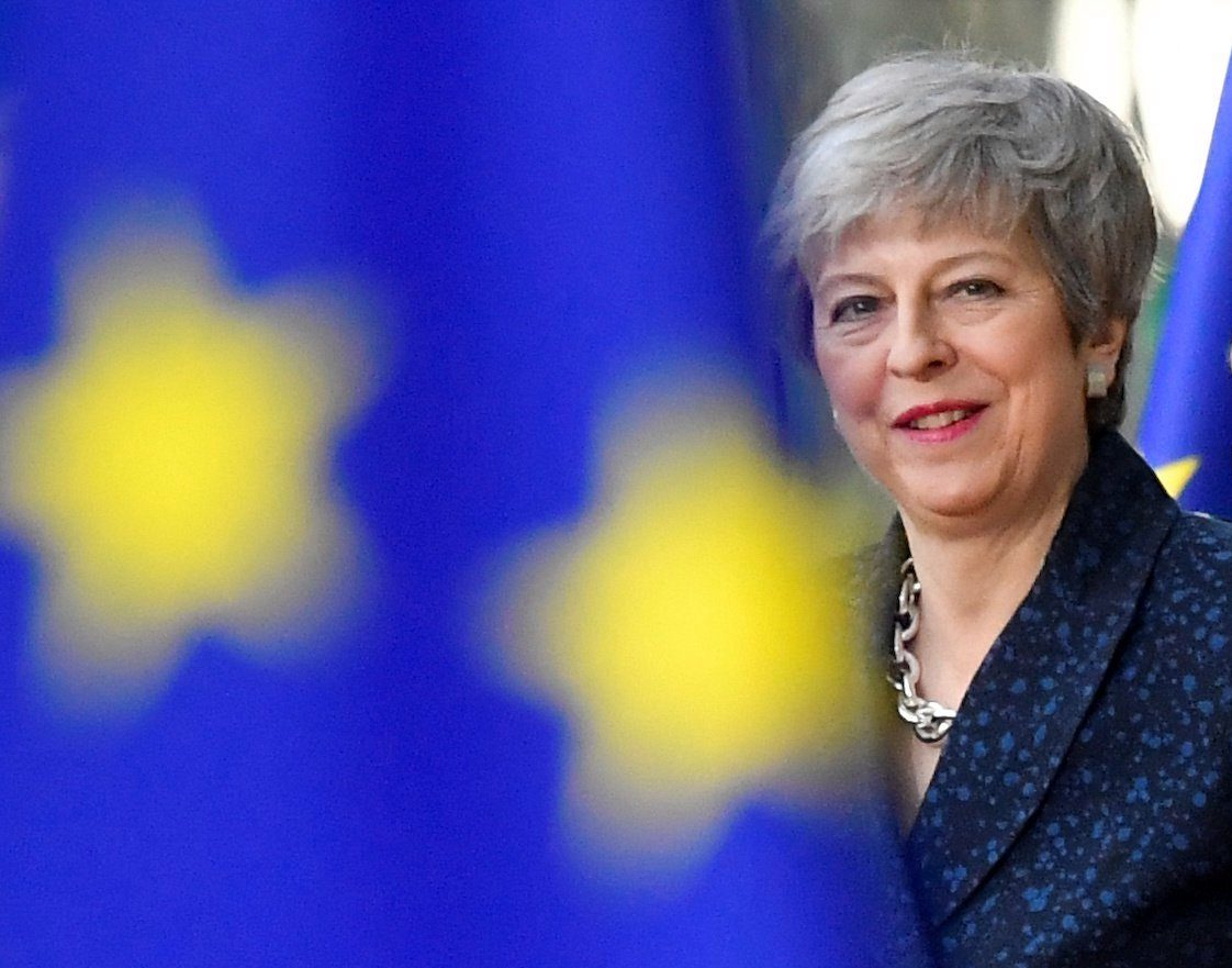 Britain's Prime Minister Theresa May arrives for a European Union leaders summit in Brussels, Belgium March 21, 2019. REUTERS/Toby Melville REUTERS/Stringer ATTENTION EDITORS - THIS IMAGE WAS PROVIDED BY A THIRD PARTY. CHINA??OUT. NO COMMERCIAL OR EDITORIAL SALES IN??CHINA.