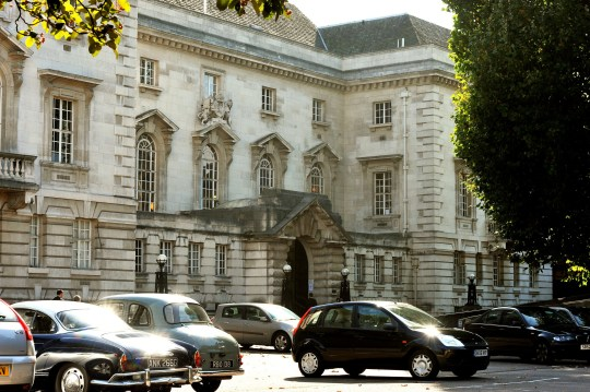 General view of the front entrance to the Inner London Crown Court, in Newington Causeway in south London.