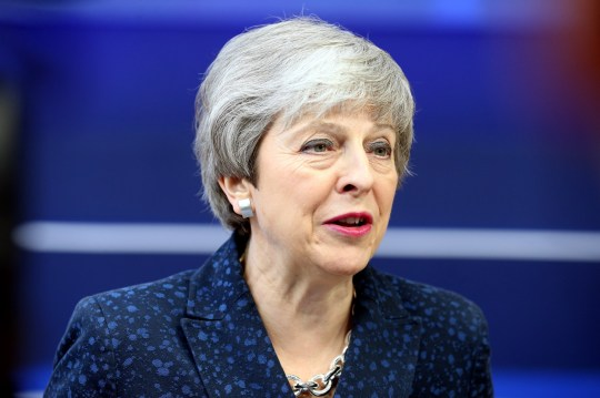 BRUSSELS, BELGIUM - MARCH 21: Britain's Prime Minister Theresa May speaks to media as she arrives at the European Council summit in Brussels, Belgium, 21 March 2019. (Photo by Dursun Aydemir/Anadolu Agency/Getty Images)
