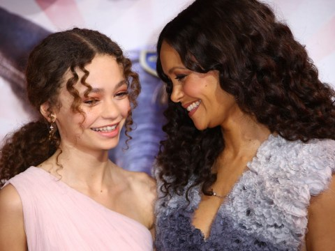 Thandie Newton is every inch the proud parent as daughter Nico Parker celebrates Dumbo London premiere