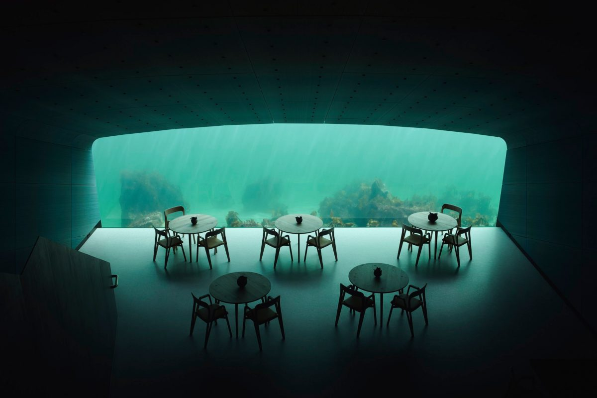 Snohetta Completes ?Under?, Europe?s First Underwater Restaurant. Europe?s initial underwater grill will acquire guest in Lindesnes, Norway on Mar 20th, 2019. Located during a southernmost indicate of a Norwegian coastline, where a sea storms from a north and south meet, a plan is situated during a singular confluence.
