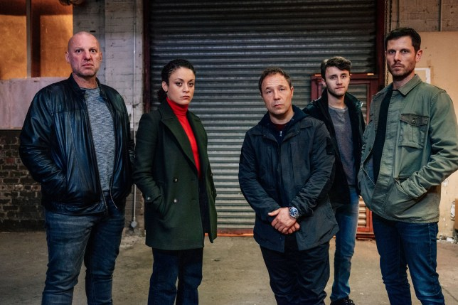 WARNING: Embargoed for publication until 00:00:01 on 26/03/2019 - Programme Name: Line of Duty - Series 5 - TX: n/a - Episode: Line Of Duty S5 - Episode 1 (No. 1) - Picture Shows: ***EMBARGOED TILL 00:01 26TH MARCH 2019*** Miroslav (TOMI MAY), McQueen (ROCHENDA SANDALL), Corbett (STEPHEN GRAHAM), Ryan (GREGORY PIPER), Lee (ALASTAIR NATKIEL) - (C) World Productions - Photographer: Aiden Monaghan