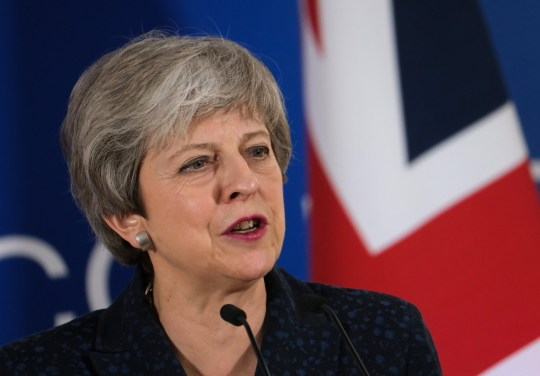 BRUSSELS, BELGIUM - MARCH 21: British Prime Minister Theresa May speaks to the media at the end of the first of a two-day summit of European Union leaders on March 21, 2019 in Brussels, Belgium. Leaders will discuss May's request for an extension of the deadline for the United Kingdom's departure from the EU, or Brexit. European Council President Donald Tusk said yesterday that he can see member states agreeing to a short extension beyond March 29, though he has coupled an extension to the British Parliament passing Theresa May's Brexit agreement first. (Photo by Sean Gallup/Getty Images)