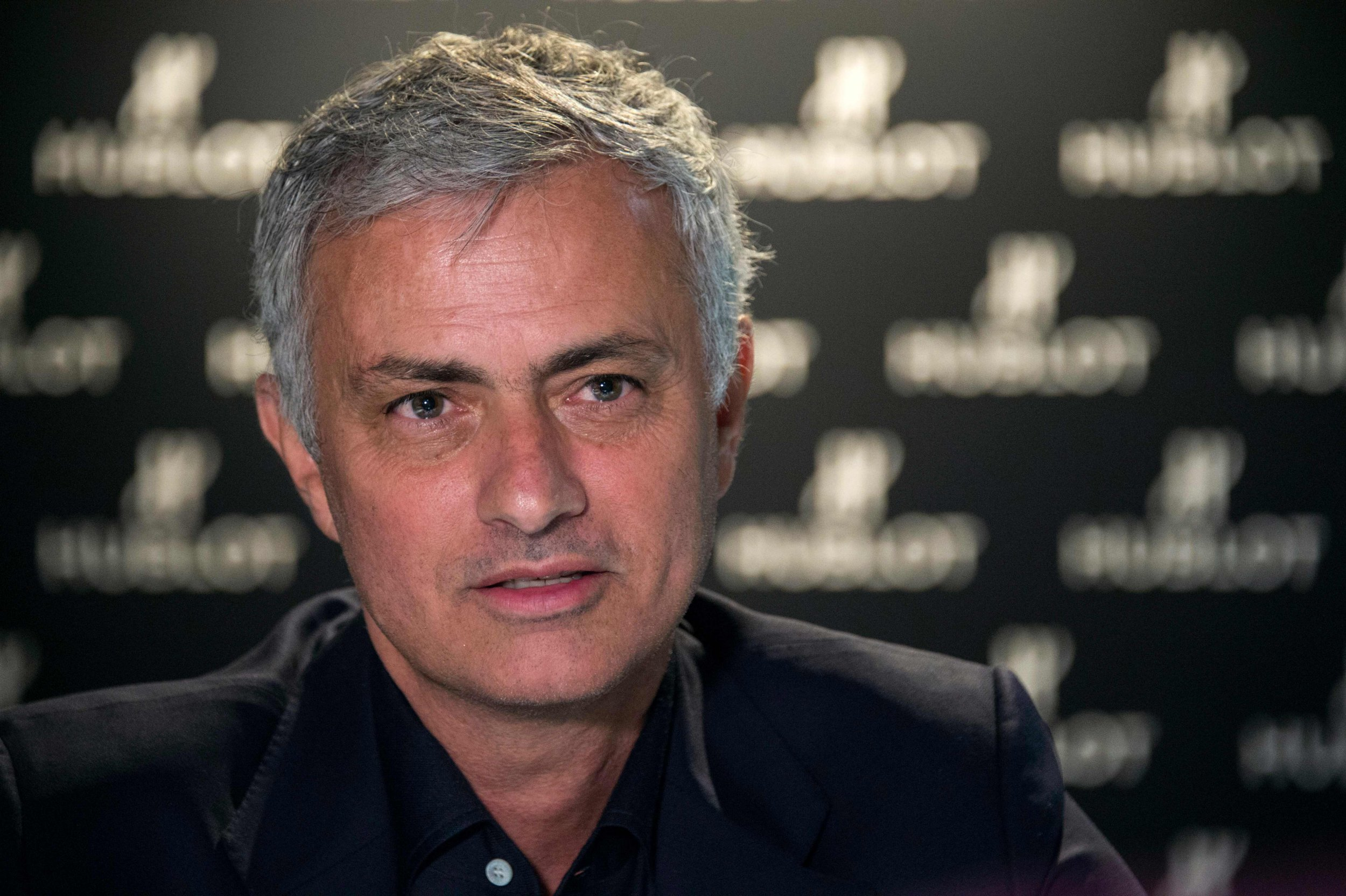 Former Manchester United's Portuguese coach Jose Mourinho speaks answers to journalists at the Baselworld watch and jewellery fair in Basel on March 22, 2019. (Photo by SEBASTIEN BOZON / AFP)SEBASTIEN BOZON/AFP/Getty Images