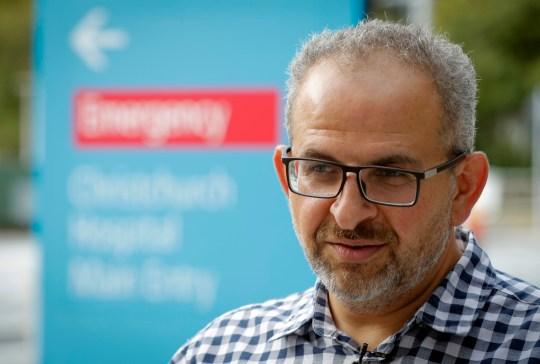 In this Thursday, March 21, 2019, photo, Adib Khanafer, vascular surgeon of hospital Christchurch speaks during an interview with Associated Press in Christchurch, New Zealand. Khanafer says he was in shock last Friday when he walked into the operating theater and saw a 4-year-old girl on the table who had suffered gunshot wounds so severe she???d been in cardiac arrest for 30 minutes before stabilizing. Khanafer, who is Muslim, knew some of the 50 people killed in last week???s attacks at two Christchurch mosques. The surgery was successful, although the girl remains in critical condition. (AP Photo/Vincent Thian)