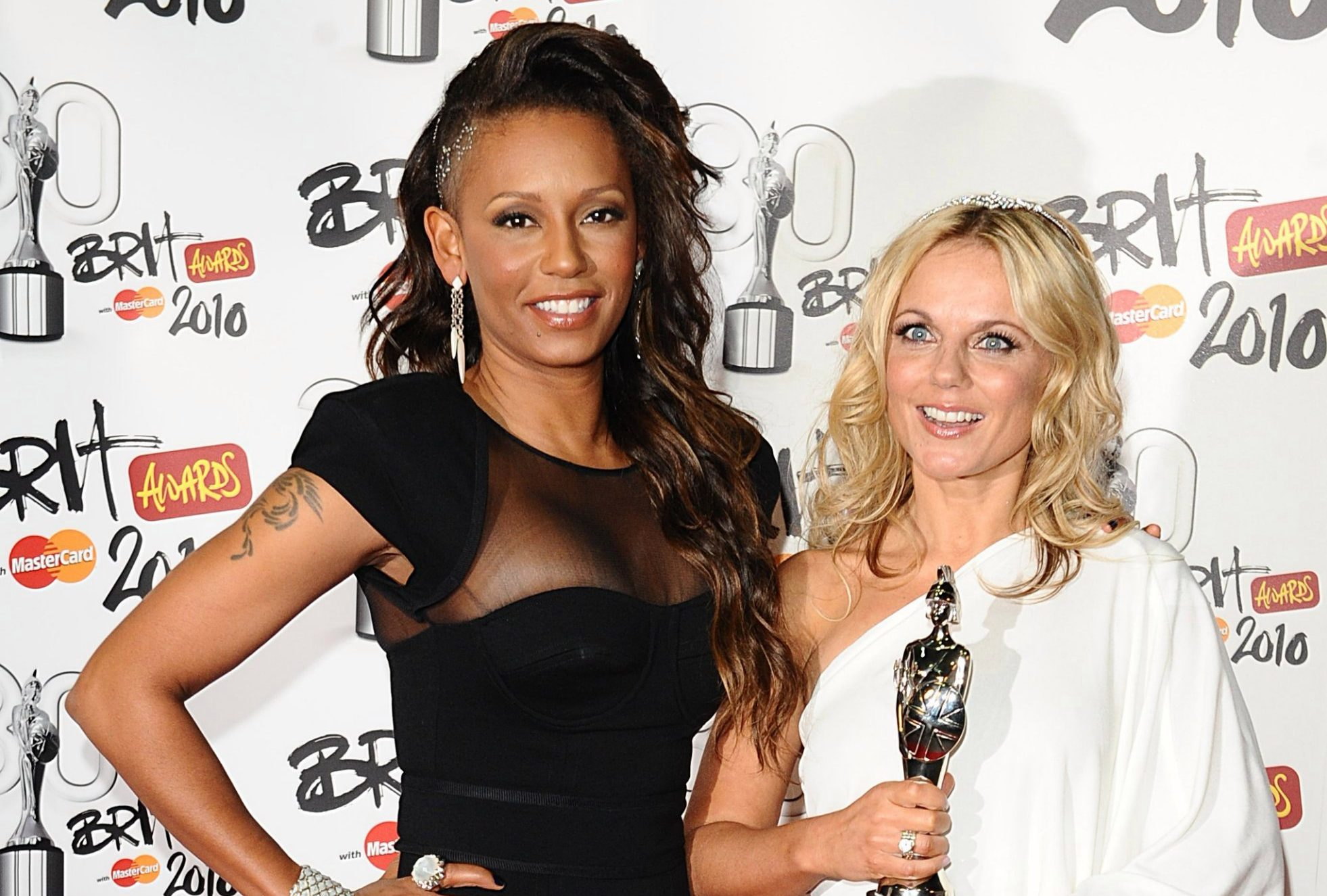 "File photo dated 16/2/2010 of Melanie Brown and Geri Horner as Mel B has claimed she had a one-night stand with her fellow Spice Girl. PRESS ASSOCIATION Photo. Issue date: Sunday March 24, 2019. Brown, 43, said the pair slept together during the group's heyday and ""giggled"" about it after. She said Horner, 46, would ""kill her"" for revealing their reported tryst, according to The Sun. See PA story SHOWBIZ MelB. Photo credit should read: Ian West/PA Wire"