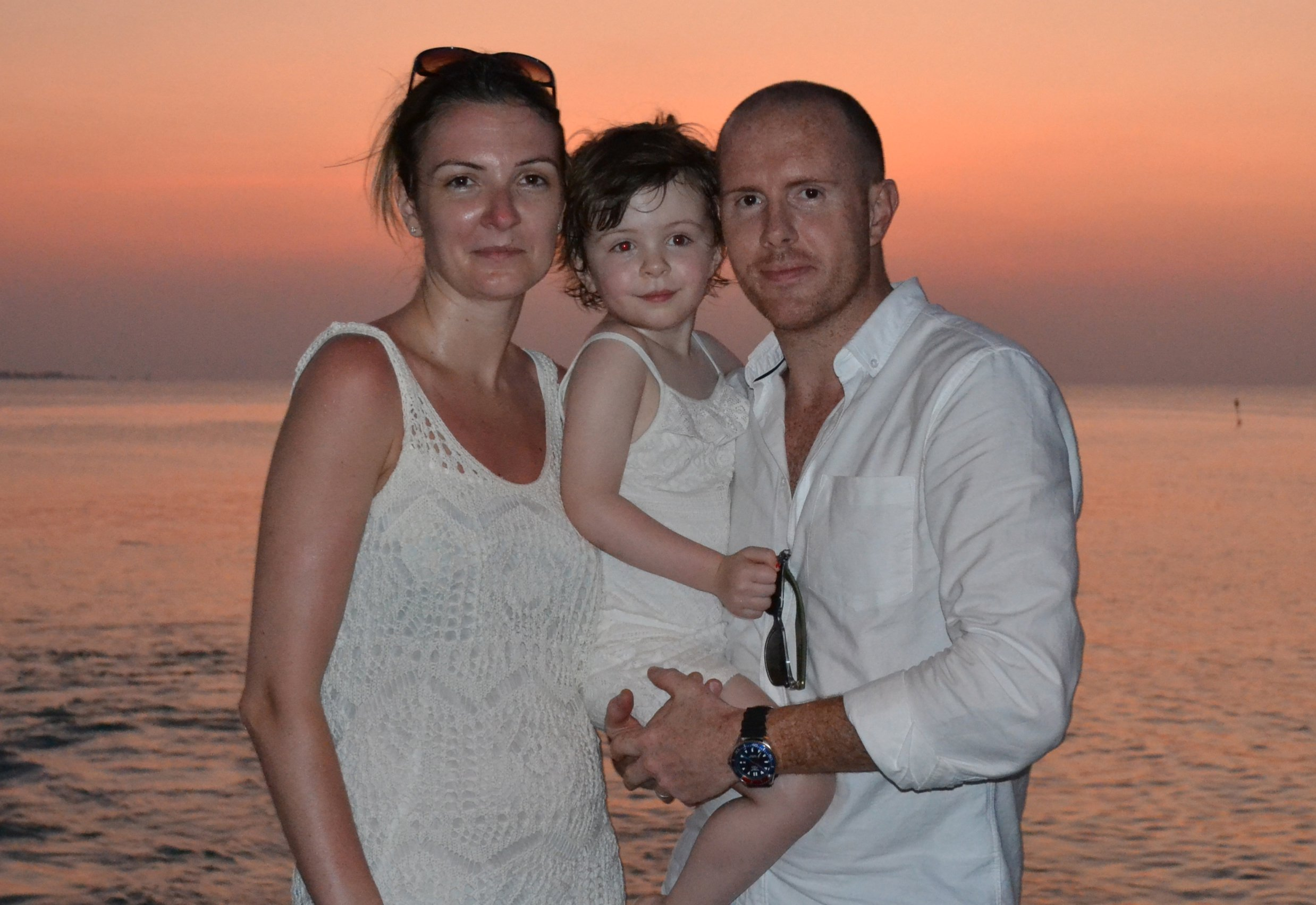 Phil Akers from Shropshire who is setting up a charity with his wife Helen called Ava's Angels after their 3 year old daughter Ava was struck down with a rare form of Glandular fever in the Maldives and passed away 2 months later. Collect pic of the family on holiday in the Maldives.