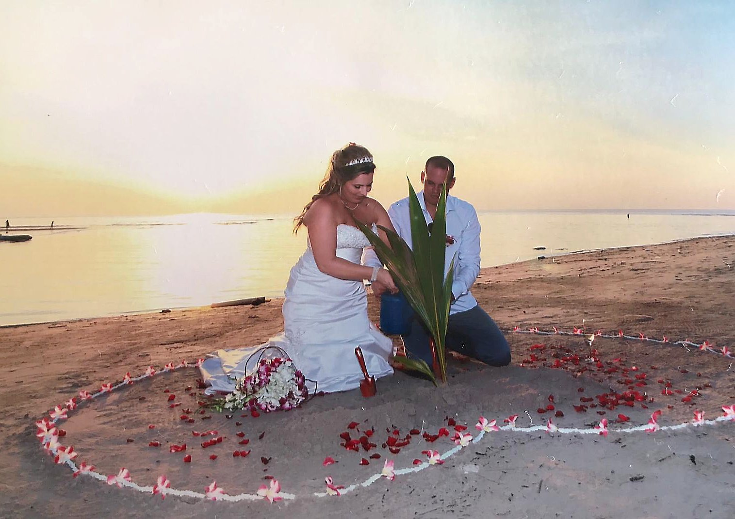 Bride almost lost leg on honeymoon after being hit by coconut