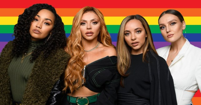 Little Mix fly the rainbow flag in Dubai