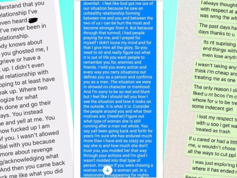 Women are sharing all the long paragraphs they sent to men who replied with brutal one-liners