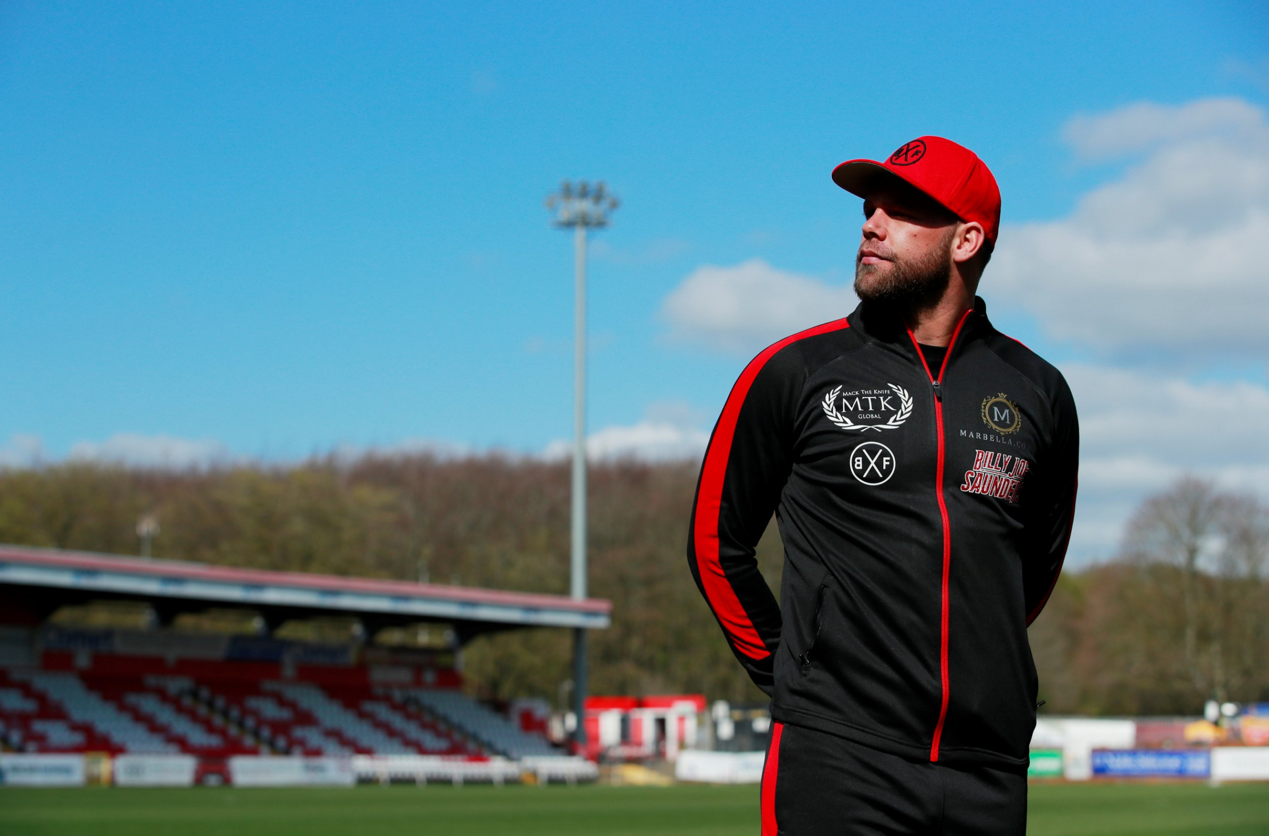 Boxing - Billy Joe Saunders Press Conference - The Lamex Stadium, Stevenage, Britain - March 25, 2019 Billy Joe Saunders poses after the press conference Action Images/Andrew Couldridge