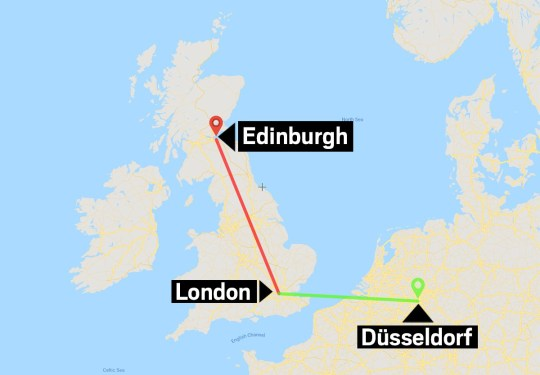 Lost pilot Confusion as pilot 'gets lost' and lands at Edinburgh Airport instead of D?sseldorf