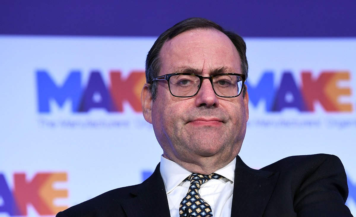 Mandatory Credit: Photo by James Veysey/REX (10110717o) Richard Harrington, Parliamentary Under Secretary of State at the Department for Business, Energy and Industrial Strategy at the MAKE UK Conference MAKE, The National Manufacturing Conference, QEII Centre, London, UK - 19 Feb 2019