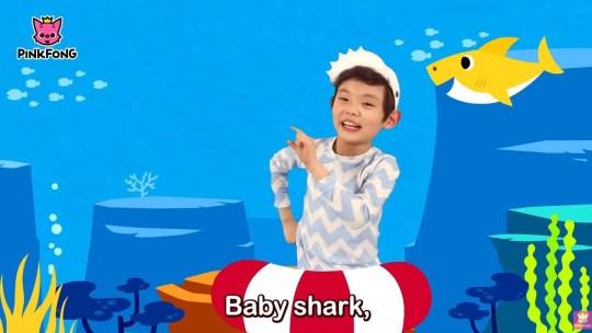 Still from Baby Shark music video