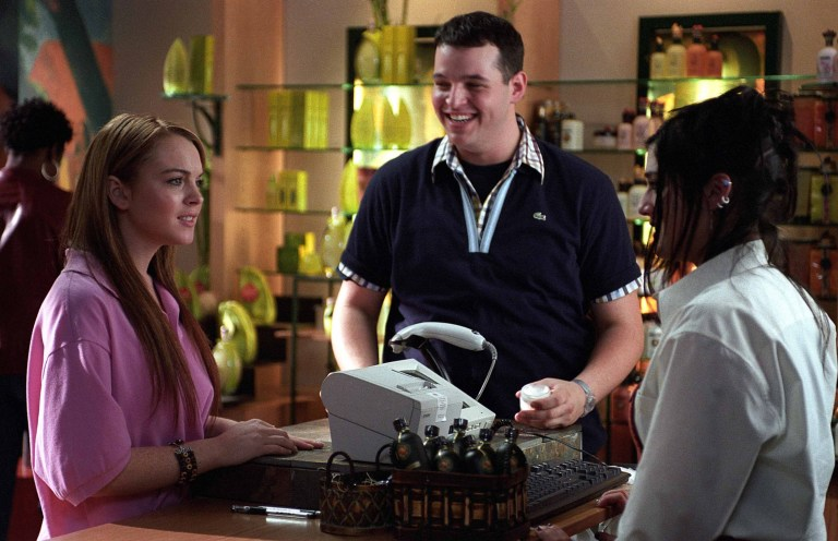 Editorial use only. No book cover usage. Mandatory Credit: Photo by Moviestore/REX/Shutterstock (1577153a) Mean Girls, Lindsay Lohan, Daniel Franzese, Lizzy Caplan Film and Television