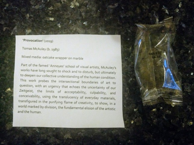 Woman tells husband off for leaving wrappers everywhere - he turns them into 'works of art'