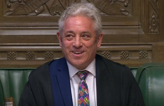 Speaker John Bercow announces that he has selected eight of the 16 Brexit alternative proposals to be considered as part of the indicative vote process to the House of Commons, London. PRESS ASSOCIATION Photo. Picture date: Wednesday March 27, 2019. See PA story POLITICS Brexit. Photo credit should read: House of Commons/PA Wire