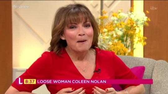 Lorraine Kelly admits she sleeps in her bra and never takes it off picture: ITV/ Lorraine Show METROGRAB