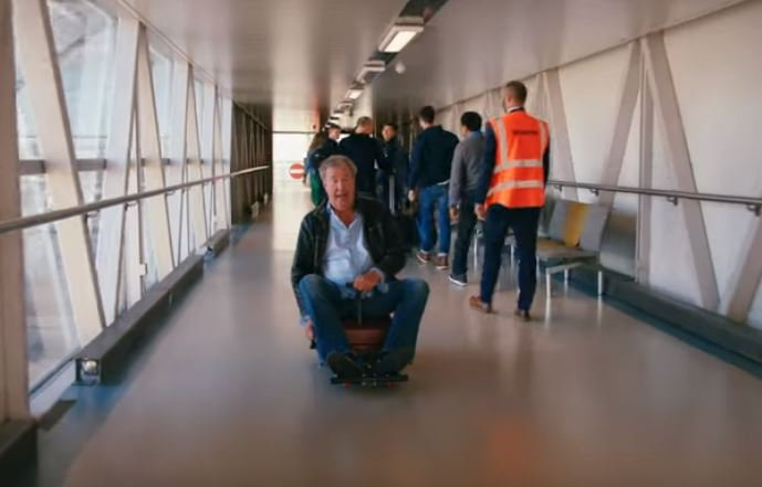 Jeremy Clarkson jokes he will sell the suitcase he knocked over old man with on The Grand Tour