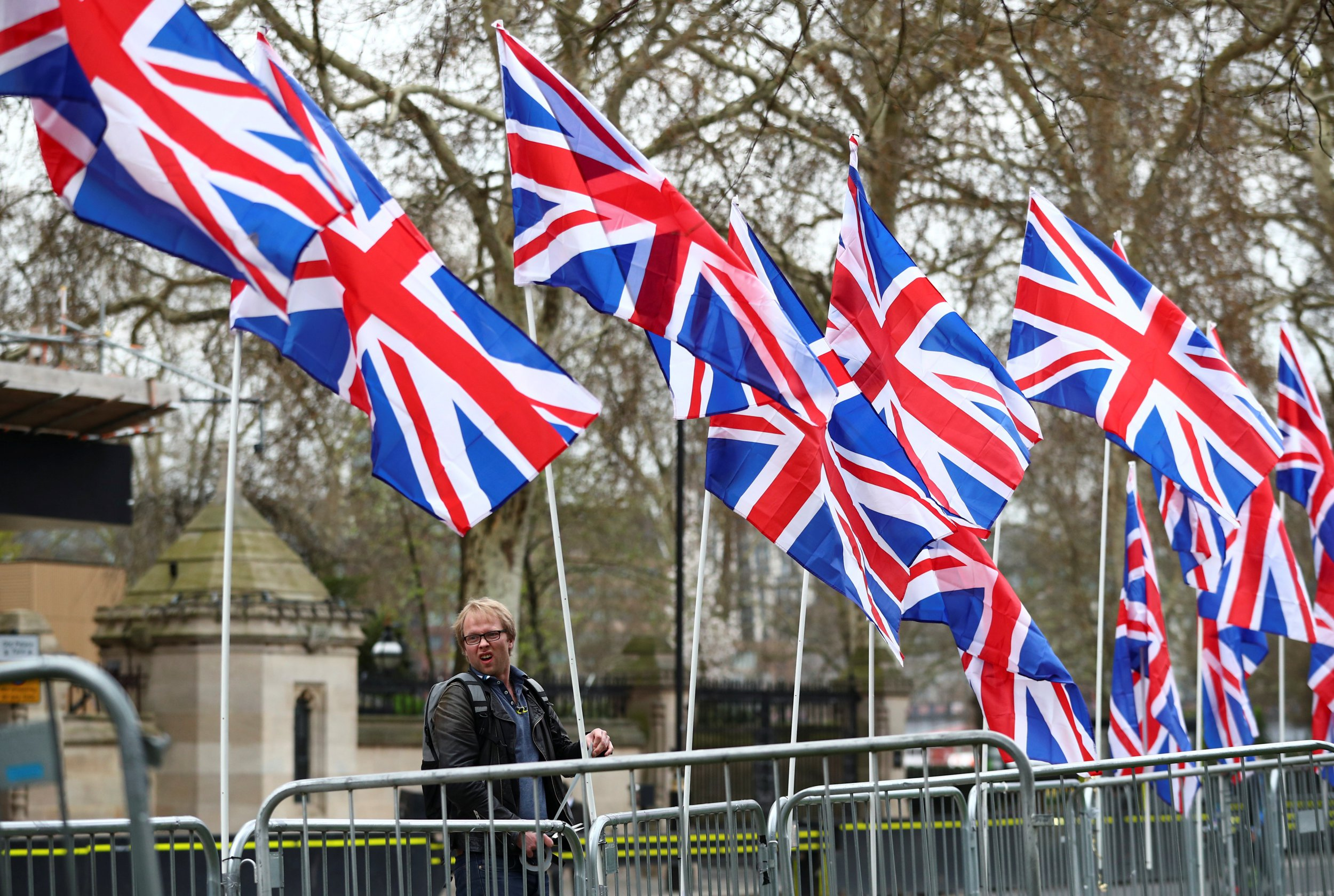 Brexit supporters got up at 6am to replace EU flags with 34 Union flags