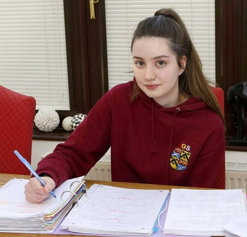 Rochester Grammar School pupil Alexandra McDonald. See National News story NNnuts. Two Rochester Grammar School pupils have been excluded for 20 days after crushed nuts were found in the classroom of a teacher, who has a severe allergy. Both girls strongly deny claims they were responsible - with one of them even taking a lie detector test to prove so. The incident happened at the Maidstone Road school last week. Alexandra McDonald said: ?I?m gutted. When I was told I was going to be excluded I was shocked, I couldn?t speak. I?ve always wanted to be a teacher but this makes me think it?s not something I want to do, if this can happen to an innocent person. It definitely was not me.