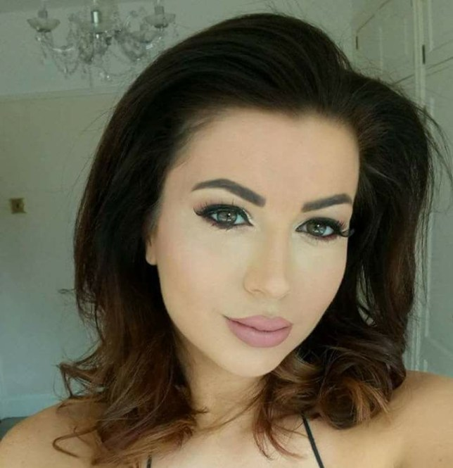 """A model was left with a horrendous """"trout pout"""" after a lip op to look like Kim Kardashian went badly wrong. Lora Evans, 32, had her mouth split and swollen after the botched lip filler surgery. She warned how young people need to think carefully before following """"Love Island culture"""" - and says influencers from the TV series, Towie and the Kardashians had led to the rise in beauty treatments. Pictured is Laura Evans before her botched lip filler surgery WALES NEWS SERVICE"""