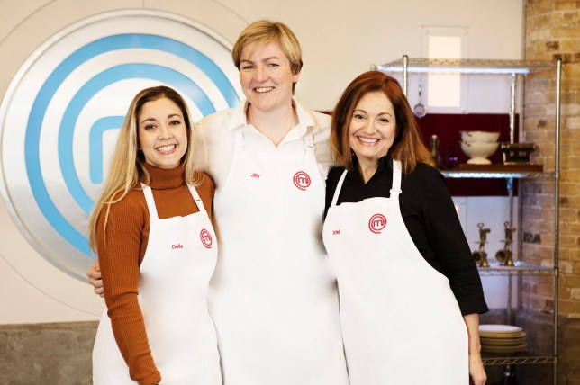 Embargoed to 2201 Thursday March 28 For use in UK, Ireland or Benelux countries only Undated BBC handout photo of (left to right) of MasterChef finalists Delia, Jilly and Irini. The final airs at 8:30pm on Friday March 29 on BBC One. PRESS ASSOCIATION Photo. Issue date: Thursday March 28, 2019. See PA story SHOWBIZ MasterChef. Photo credit should read: BBC/PA Wire NOTE TO EDITORS: Not for use more than 21 days after issue. You may use this picture without charge only for the purpose of publicising or reporting on current BBC programming, personnel or other BBC output or activity within 21 days of issue. Any use after that time MUST be cleared through BBC Picture Publicity. Please credit the image to the BBC and any named photographer or independent programme maker, as described in the caption.