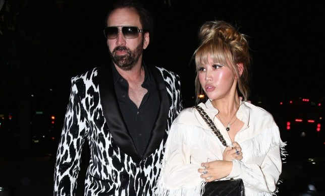 """Beverly Hills, CA - *EXCLUSIVE* *FILE PHOTOS* Beverly Hills, CA-Nicolas Cage was caught on camera making a scene while applying for a marriage license with his young makeup artist girlfriend, Erika Koike . The 55 year old """"Leaving Las Vegas'' star was seen at the Clark County Court House Marriage Licence Bureau in downtown Las Vegas on March 23rd telling onlookers she was going to take all of his money According to reports, Cage, who has been married three times before, appeared to be 'very out of it' and was 'most likely drunk'. *Shot on May 21, 2018* Pictured: Nicolas Cage, Erika Koike BACKGRID USA 21 MAY 2018 BACKGRID USA 28 MARCH 2019 BYLINE MUST READ: Byrdman / BACKGRID USA: +1 310 798 9111 / usasales@backgrid.com UK: +44 208 344 2007 / uksales@backgrid.com *UK Clients - Pictures Containing Children Please Pixelate Face Prior To Publication*"""