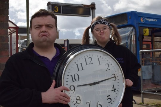Disability bus passes no longer valid before 9.30am Picture of Duncan and Katy