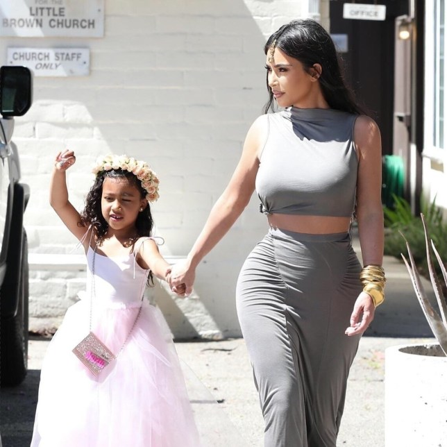b453529a30 Kim Kardashian and daughter North West serve princess chic for ...