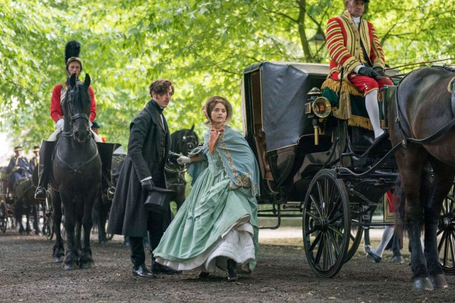 MAMMOTH SCREEN FOR ITV VICTORIA Series 3 Episode 2 Pictured: JENNA COLEMAN as Queen Victoria and TOM HUGHES as Prince Albert. This photograph must not be syndicated to any other company, publication or website, or permanently archived, without the express written permission of ITV Picture Desk. Full Terms and conditions are available on www.itv.com/presscentre/itvpictures/terms Copyright: ITV,mammoth Screen. For further information please contact: Patrick.smith@itv.com 0207 1573044