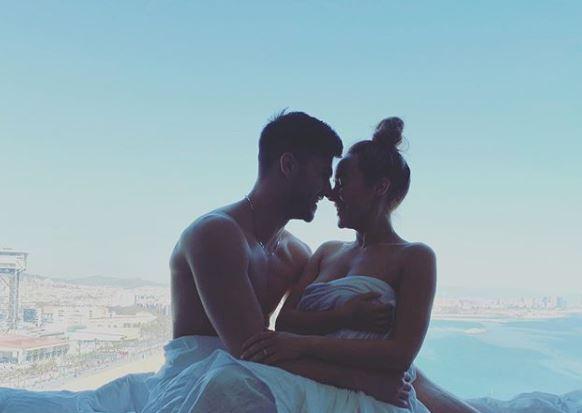 Hollyoaks stars Stephanie Davis and Owen Warner share semi-naked photo from loved up Spanish holiday