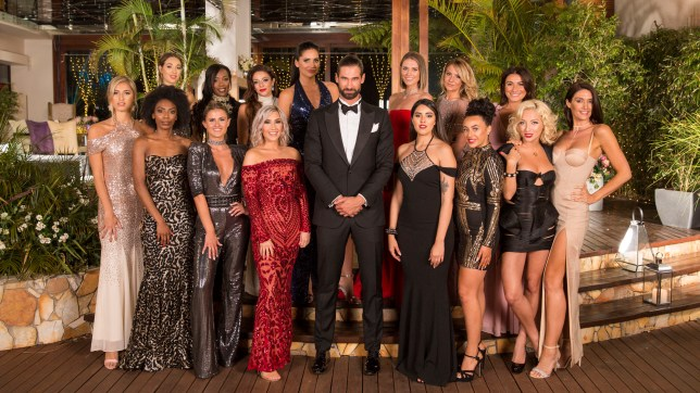 Alex Marks and the contestants in The Bachelor 2019