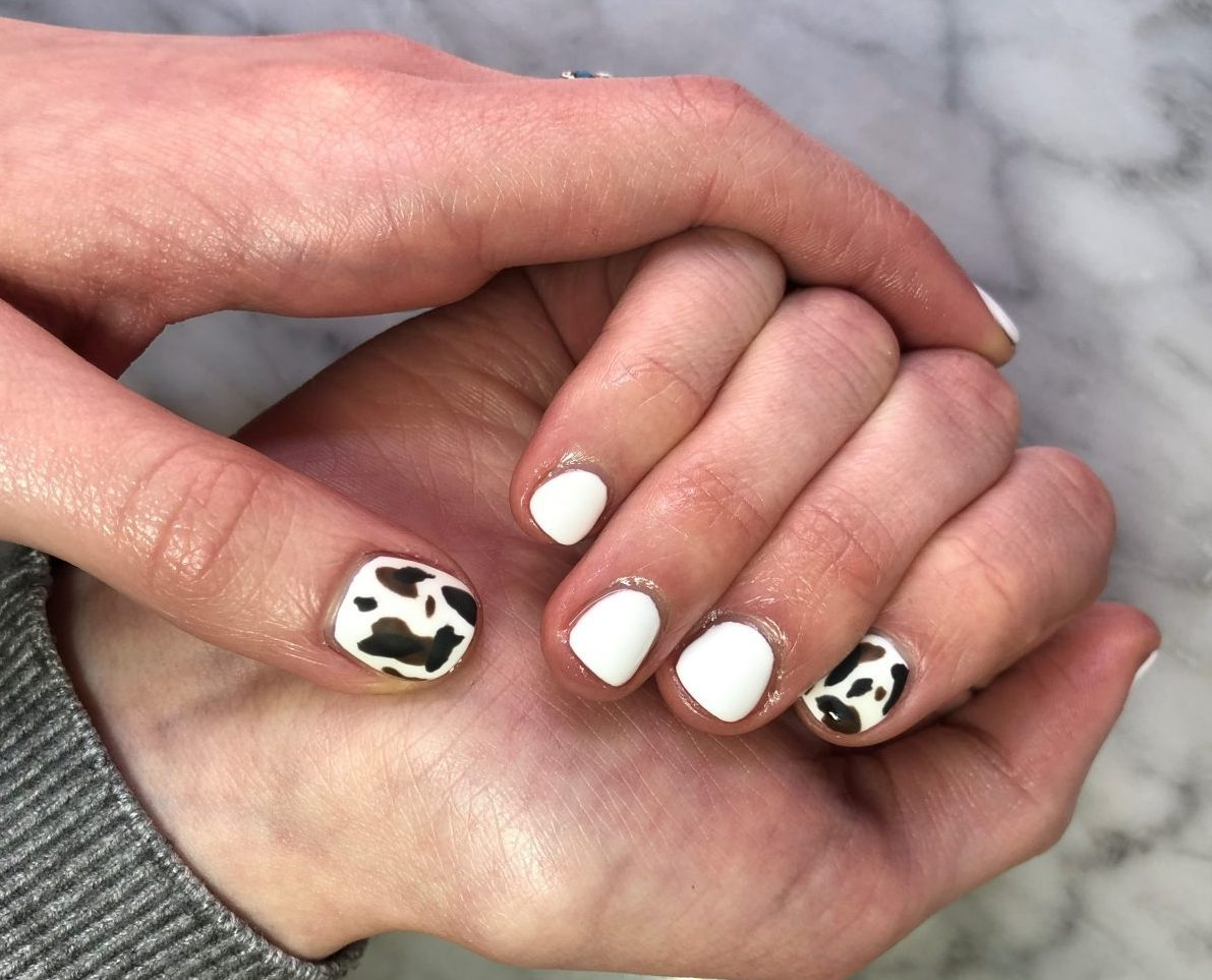Cow print nails are a major trend – here's how to do them yourself