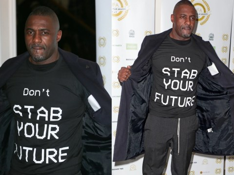Idris Elba urges youth 'don't stab your future' as he continues anti-knife crusade