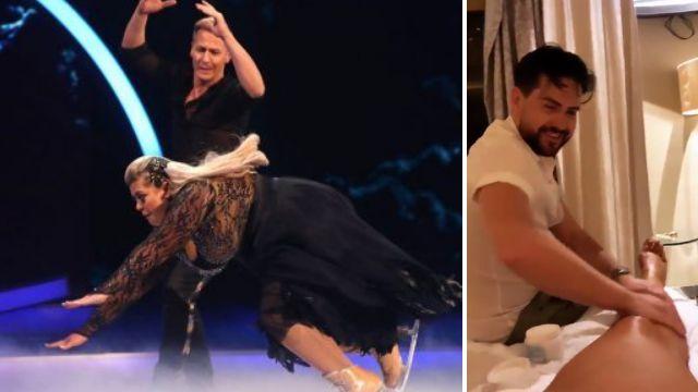 Gemma Collins turns bestie into massage therapist to help her handle Dancing On Ice injury