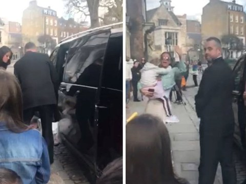 Katie Price rushes to comfort crying daughter Bunny as she falls out of car