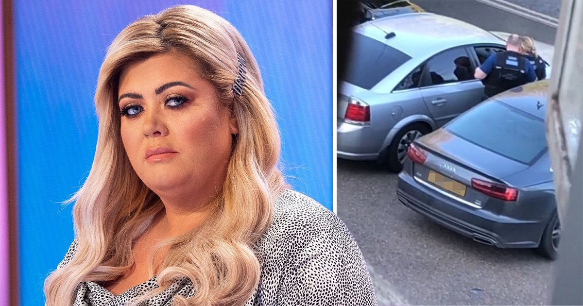 Gemma Collins escorted from home by police after 'fearing for her life' over man loitering outside