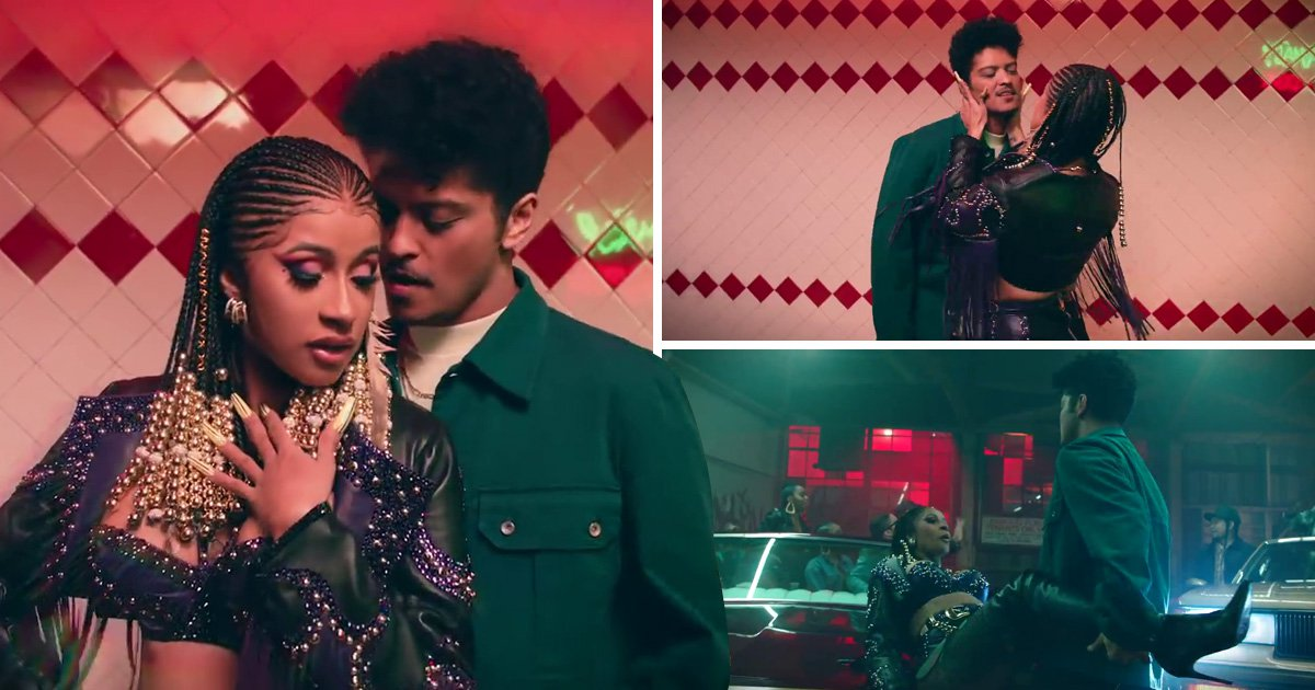 Cardi B and Bruno Mars up their flirt game in new Please Me video